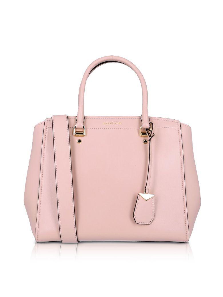 Michael Kors Soft Polished Leather Benning Large Satchel Bag