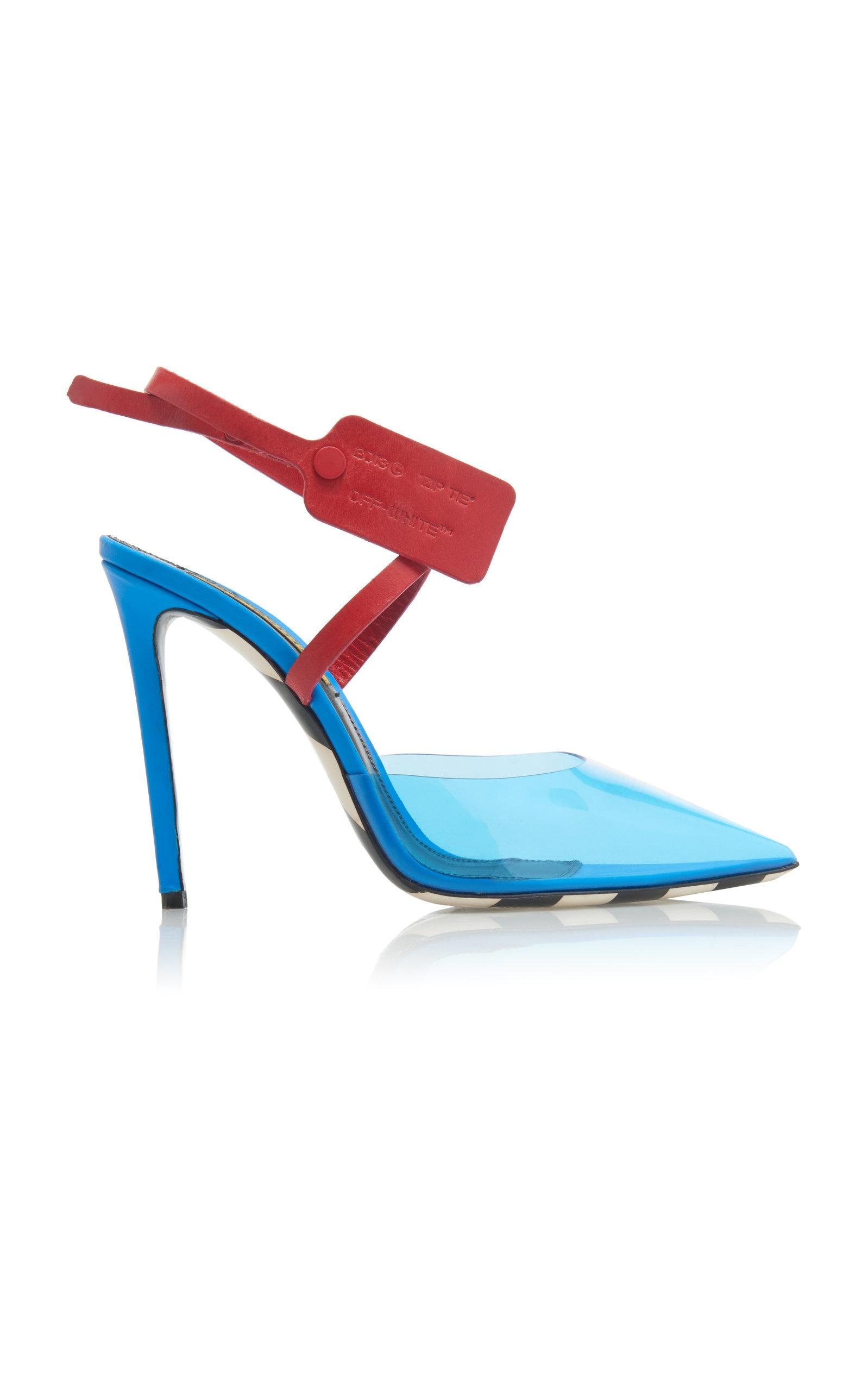 ac10faf473b9 Off-White 110Mm Zip Tie Plexi & Leather Pumps In 3000 Blue No Color. Moda  Operandi. 320Login to see price