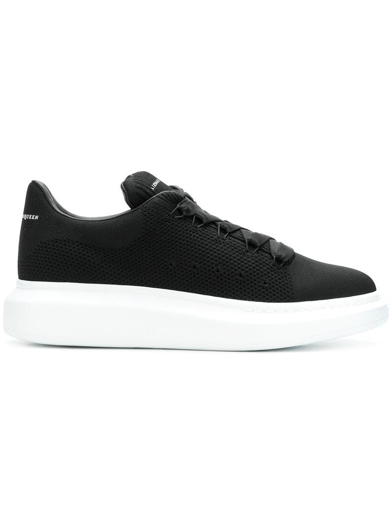 Alexander Mcqueen Men's Knitted Oversized Low-Top Sneakers In 1000 Black