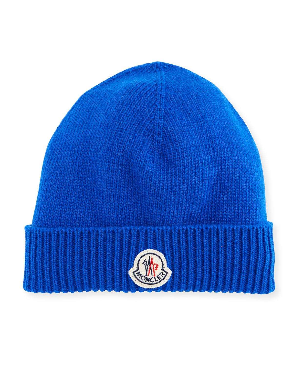 1eb3b79ccdfd7 Moncler Men s Berretto Wool Beanie Hat In Blue