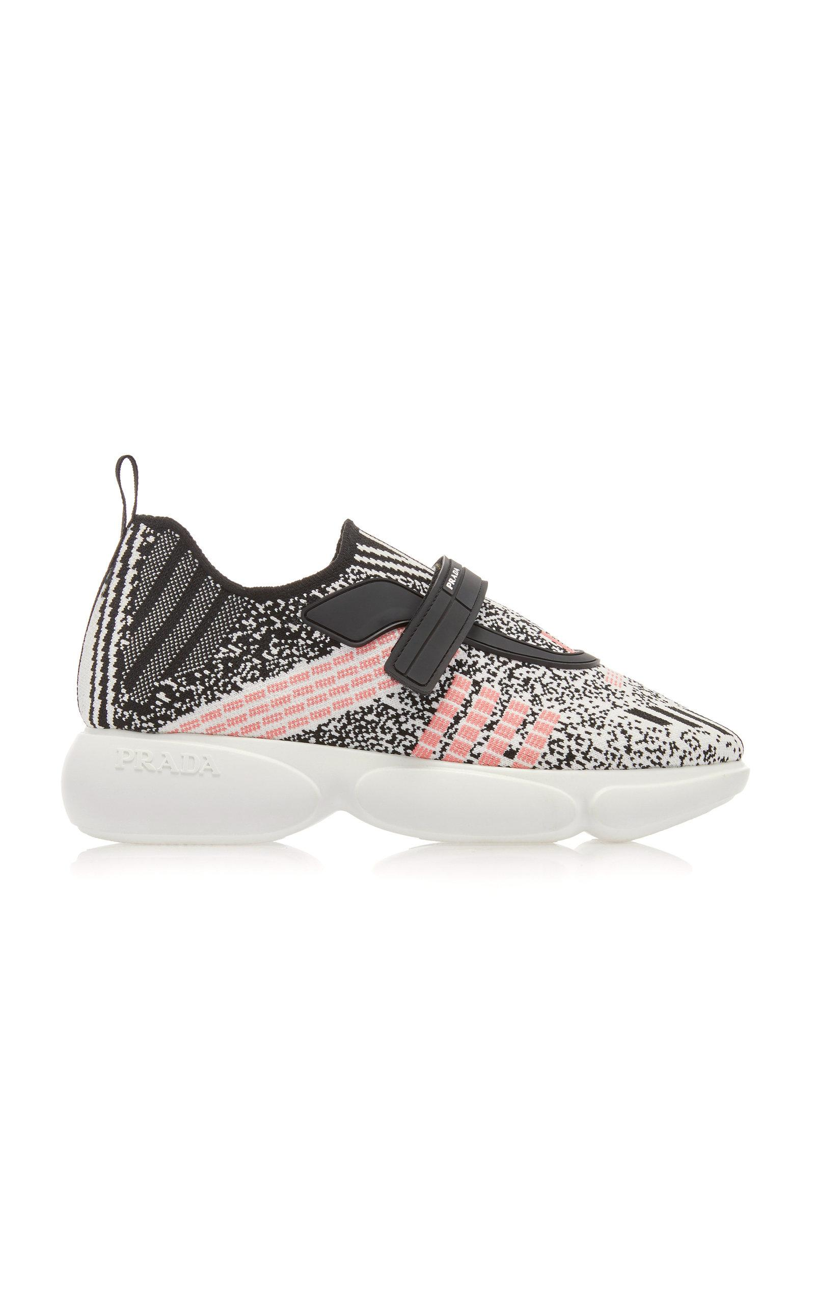 Prada Cloudbust Low-top Technical-knit Trainers In White
