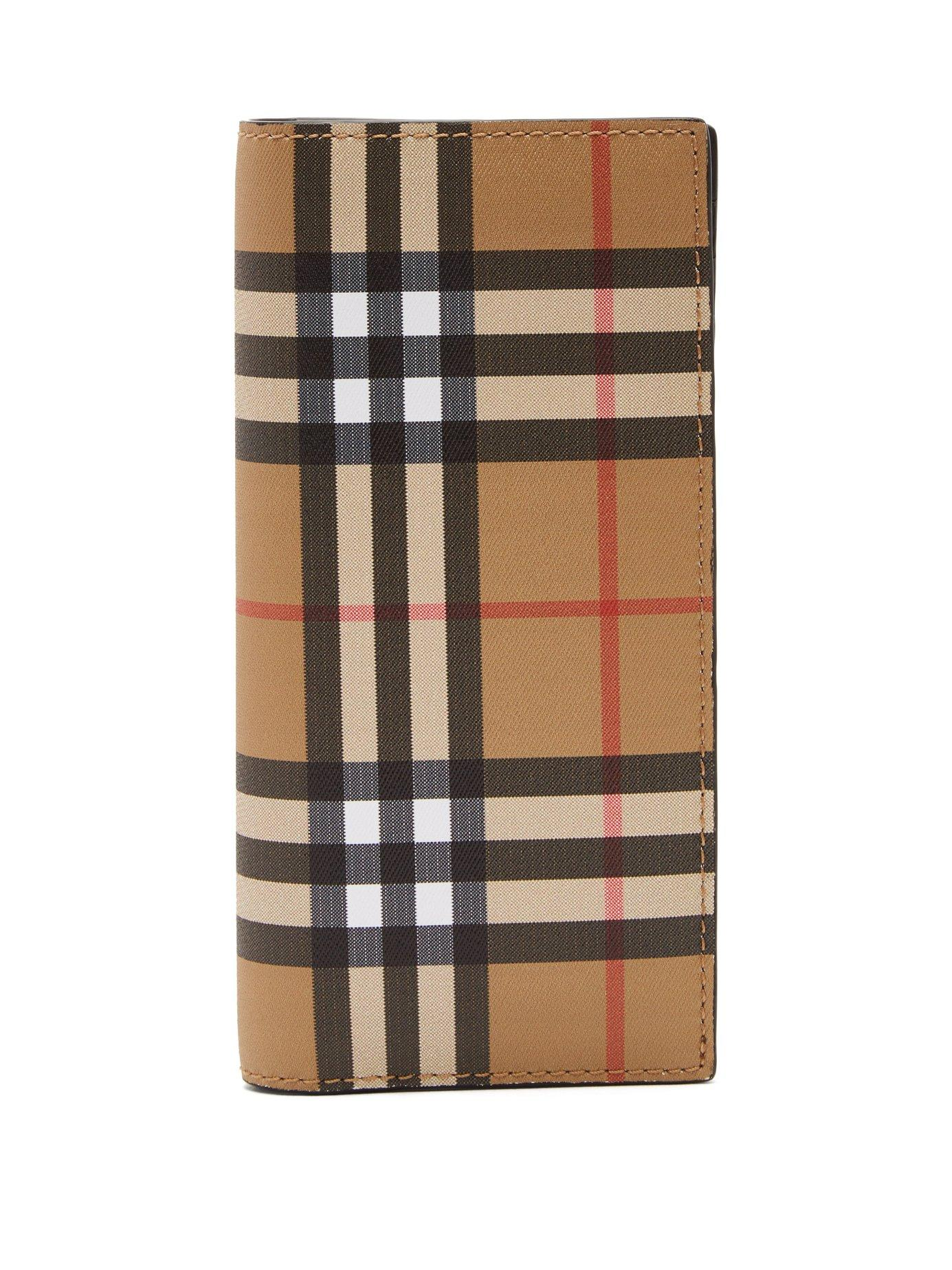 17bb9fabe158c Burberry Cavendish Vintage Check Continental Leather Wallet In Neutrals