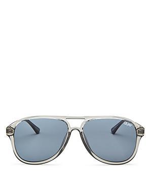 9c96bb317dfab Quay Under Pressure 58Mm Aviator Sunglasses - Grey  Smoke In Gray ...