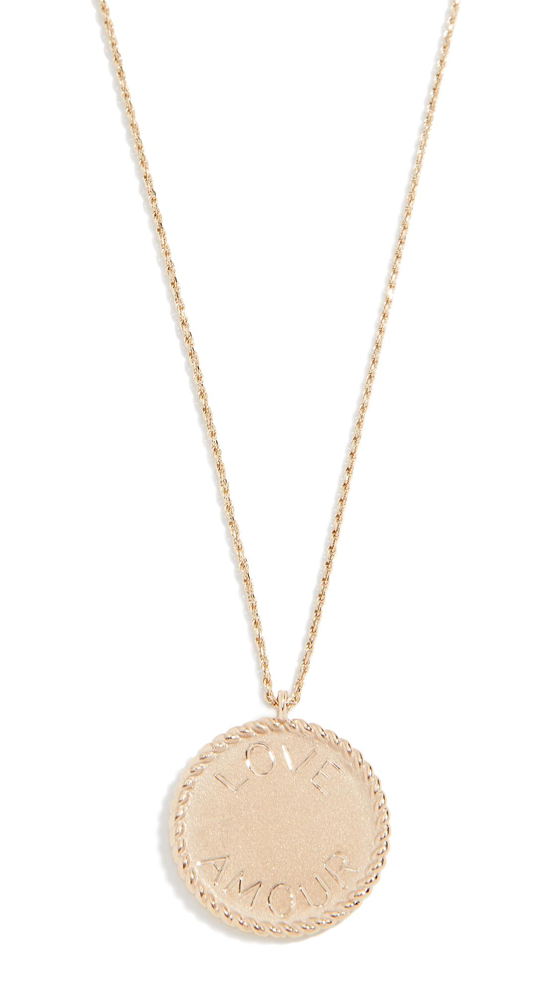 Ariel Gordon Jewelry 14K Imperial Disc Love Amour Necklace In Yellow Gold