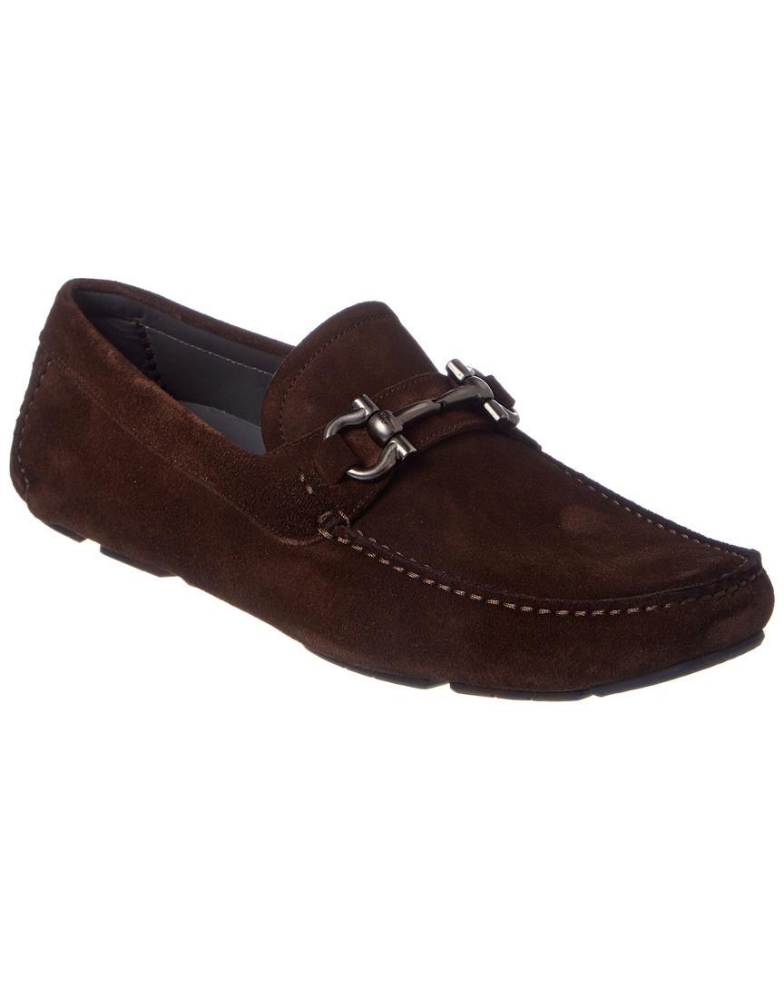"""Clothing, Shoes & Accessories Reliable Salvatore Ferragamo """"parigi"""" Driving Shoes Moc Bit Loafer Brown Leather 8 D Men"""