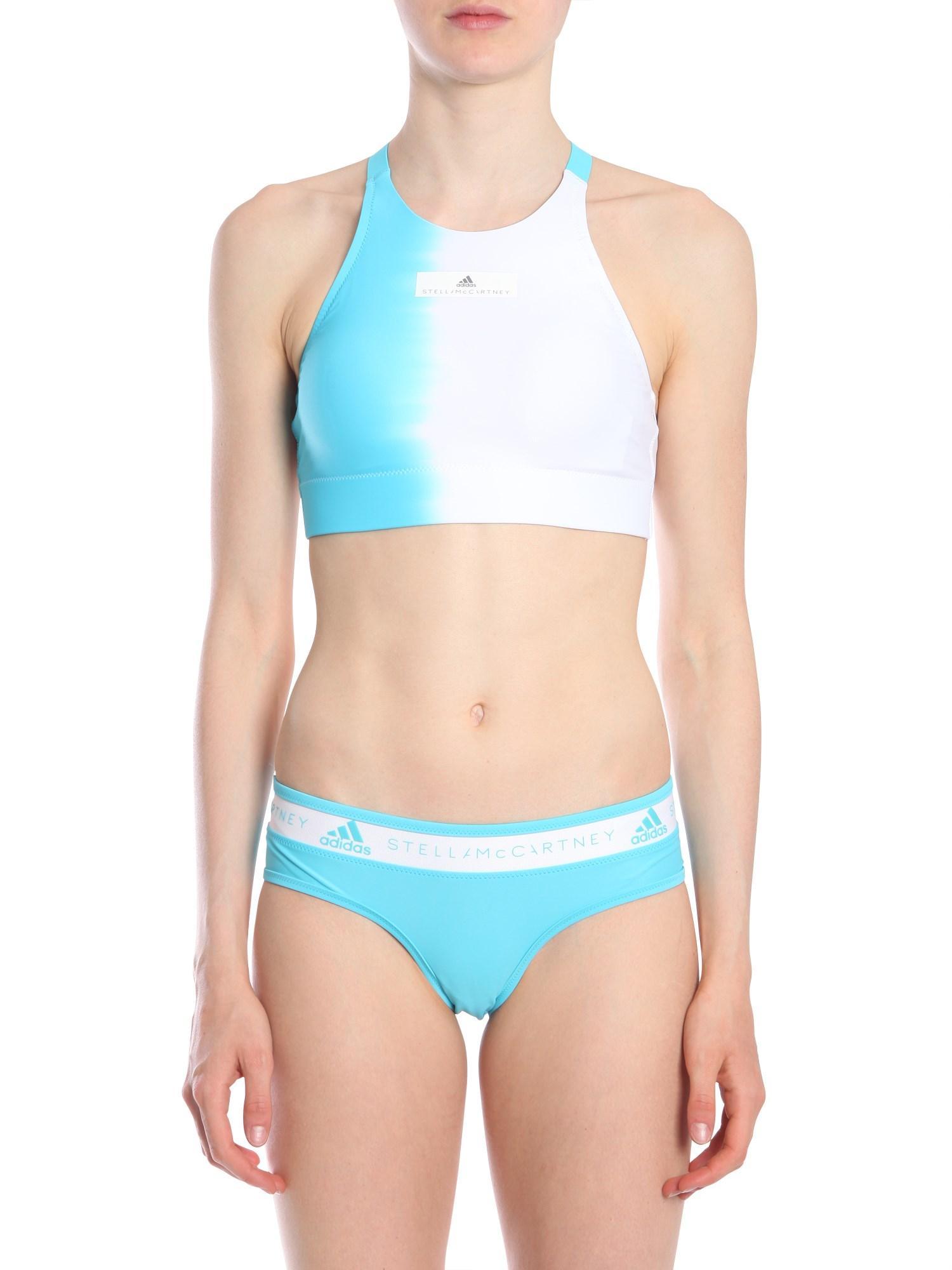 7bf588c79db4f Adidas By Stella Mccartney Racer-Back Bikini Top In Blue   ModeSens