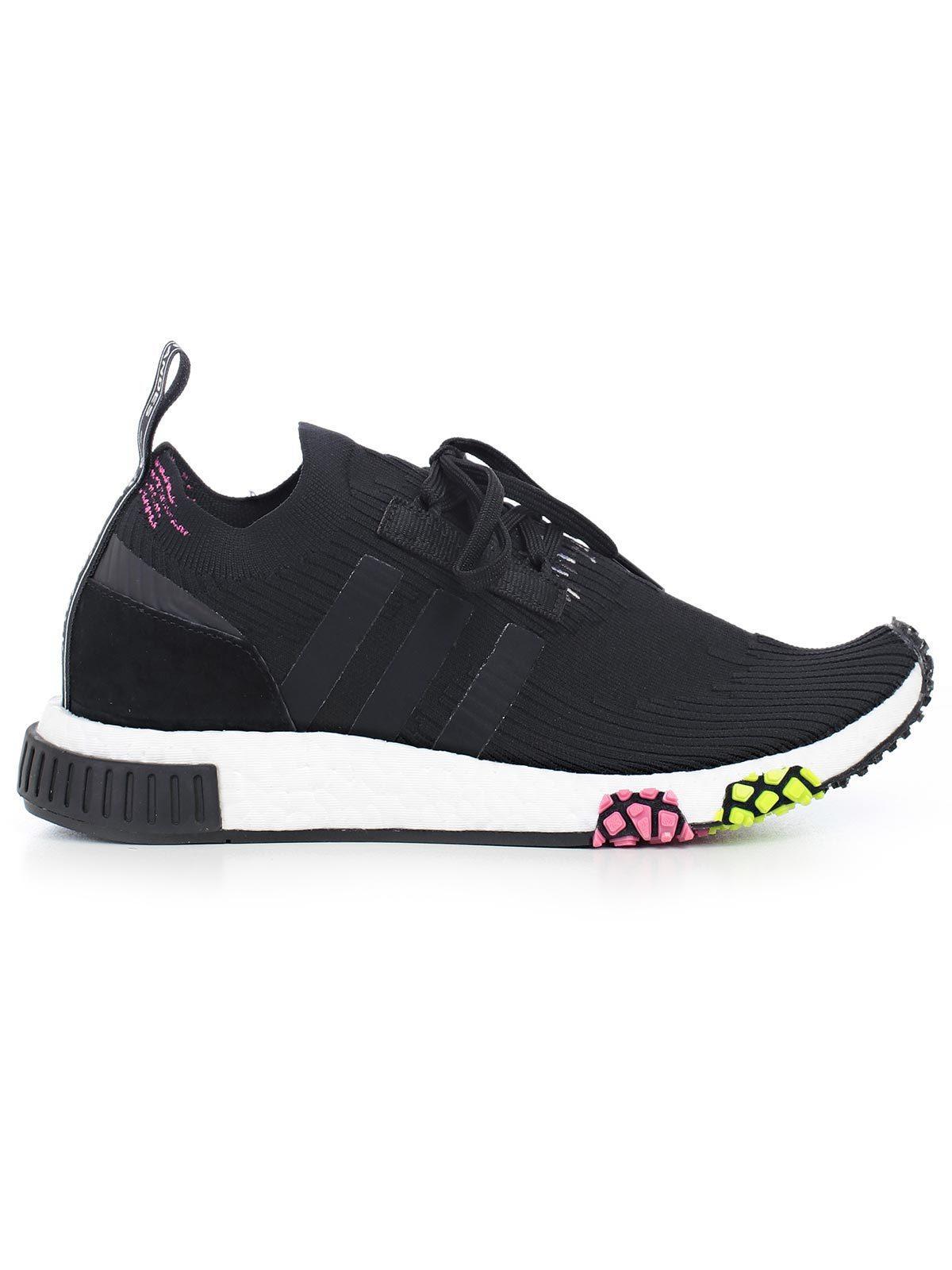 da3cf0a4b4c2b Adidas Originals Nmd Racer Primeknit Sneakers In Black Cq2441 - Black
