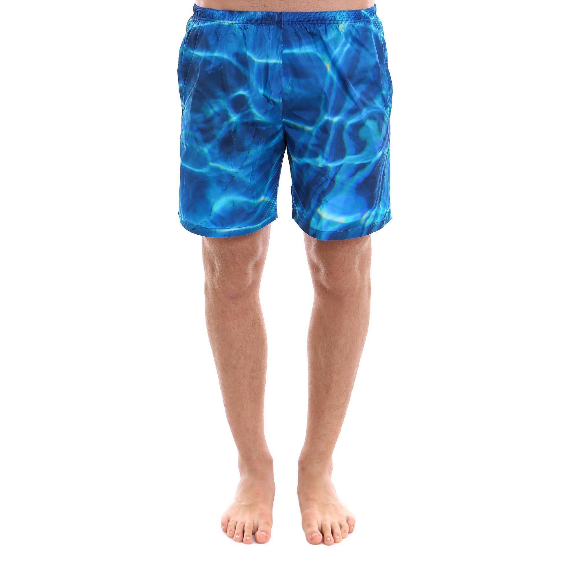 7b1e504c66284 Prada Linea Rossa Printed Swim Shorts In Bluette | ModeSens