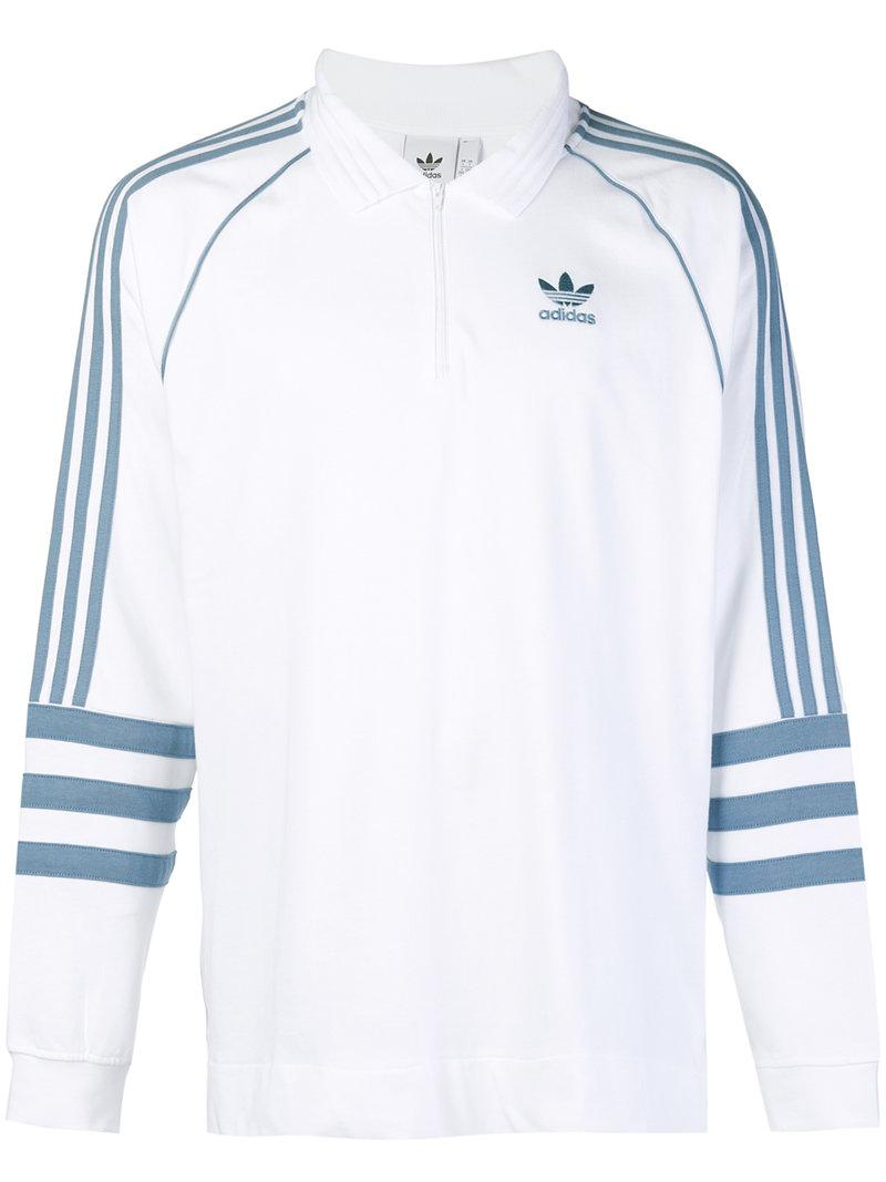 434ee63d4f9 Adidas Originals Authentic Rugby Top In White Dh3844 - White   ModeSens