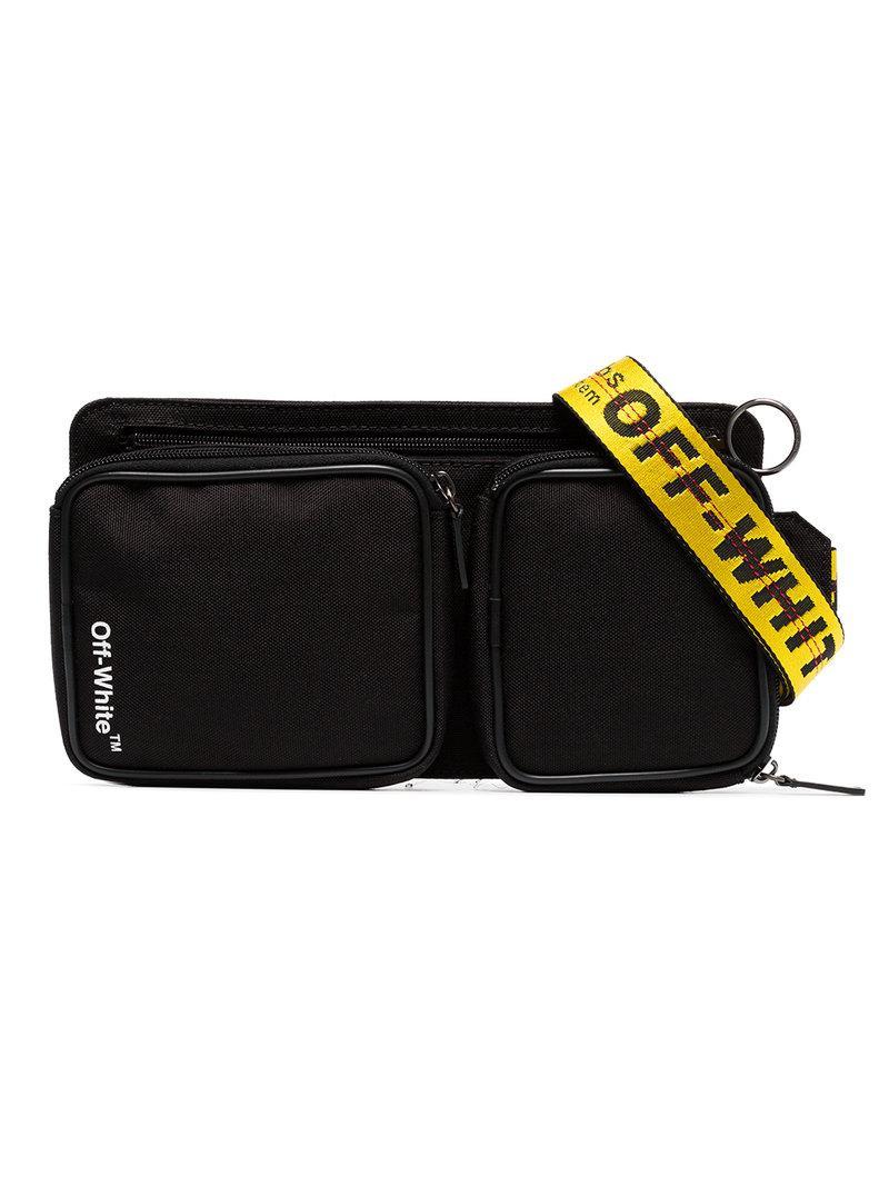 25f179650c06af Off-White Black Cordura Logo Print Cross-Body Bag - Farfetch | ModeSens