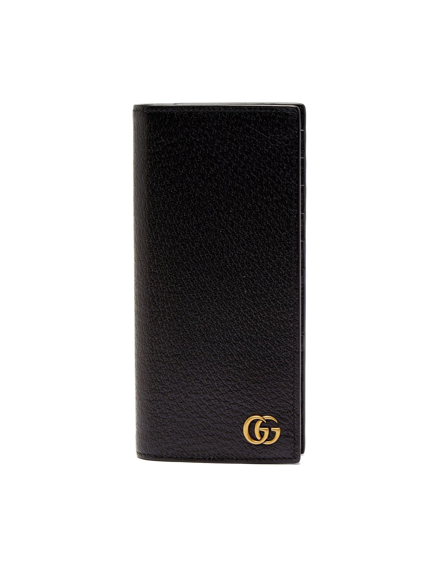 1304c1b98f03 Gucci Gg Marmont Grained-Leather Bi-Fold Wallet In Black | ModeSens