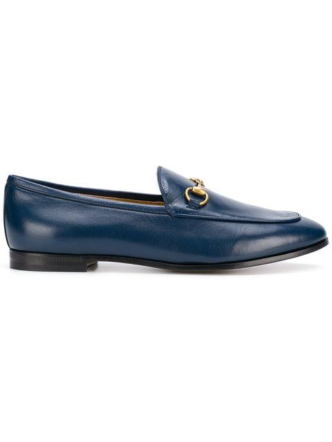 Gucci 10mm Jordaan Horsebit Leather Loafers In Blue
