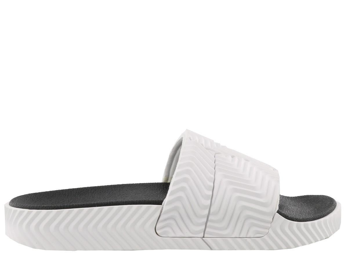 28a4f3d27 Adidas Originals By Alexander Wang Adilette Rubber Slide Sandals In White