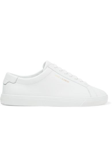 "Saint Laurent Sneaker ""Andy"" In Pelle Bianca In 9030 White"