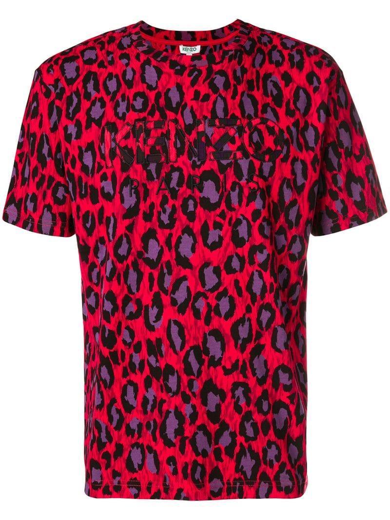 a811d2ce Mens Leopard Print Polo Shirt   Top Mode Depot