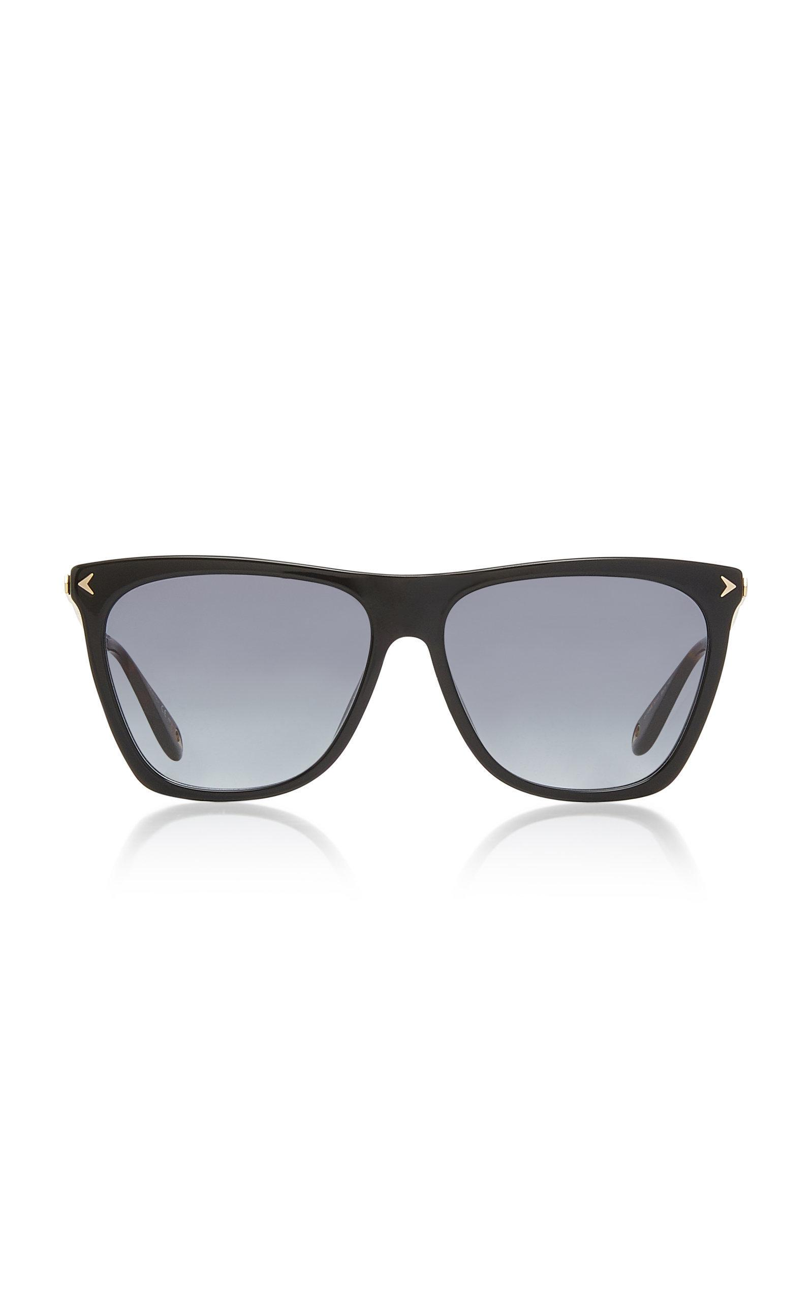 dce9e20ffa3cc Givenchy Square Acetate   Metal Gradient Sunglasses In Black