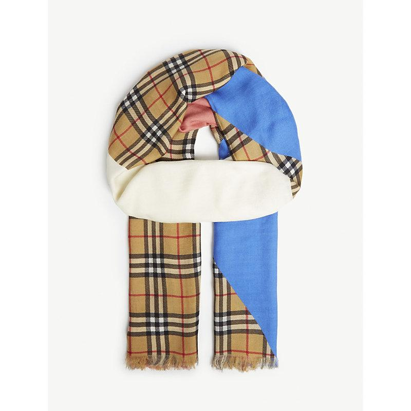 Burberry Block Colour With Vintage Check Scarf In Yellow