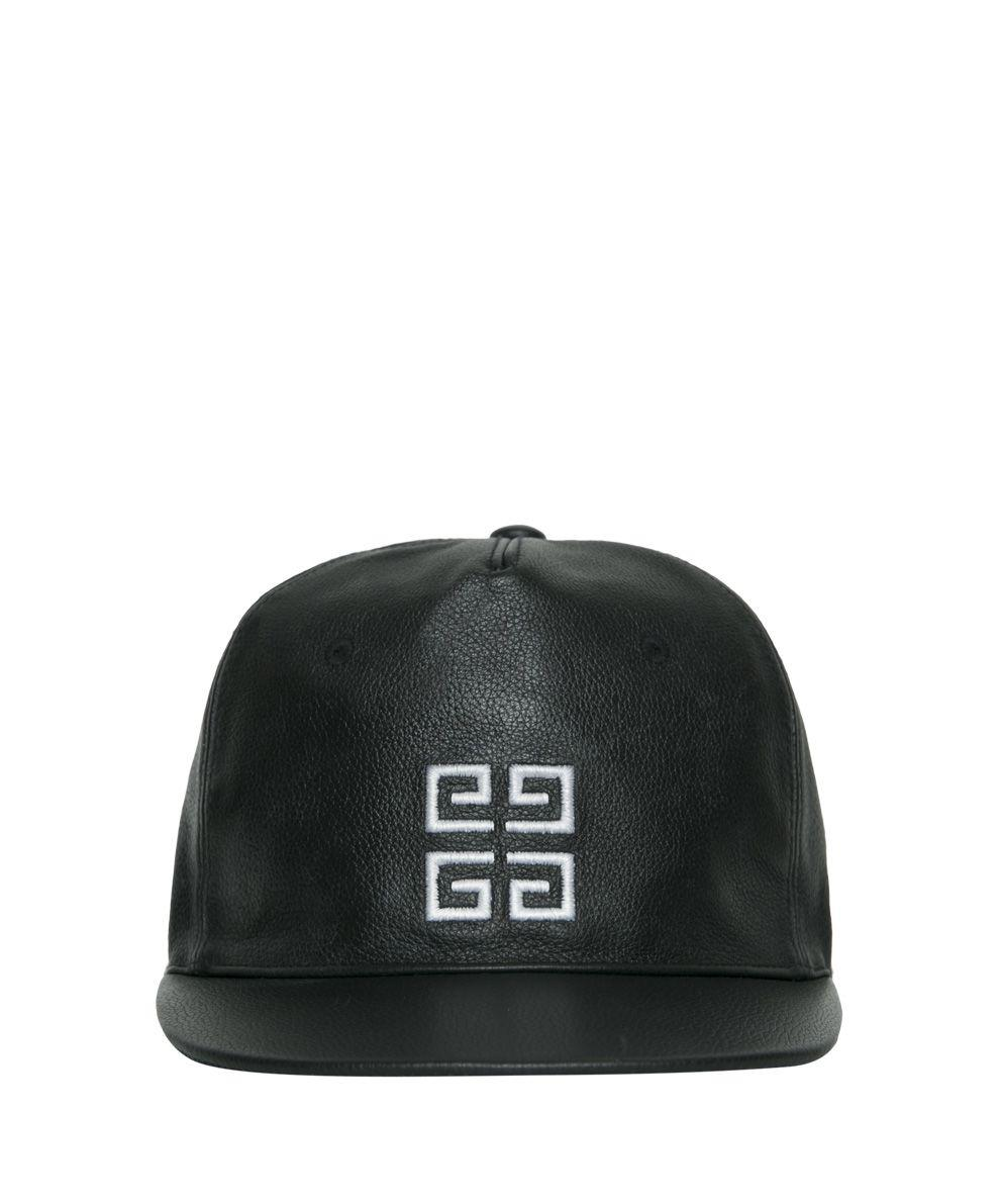 51565d38abb Givenchy Logo-Embroidered Leather Cap In Black