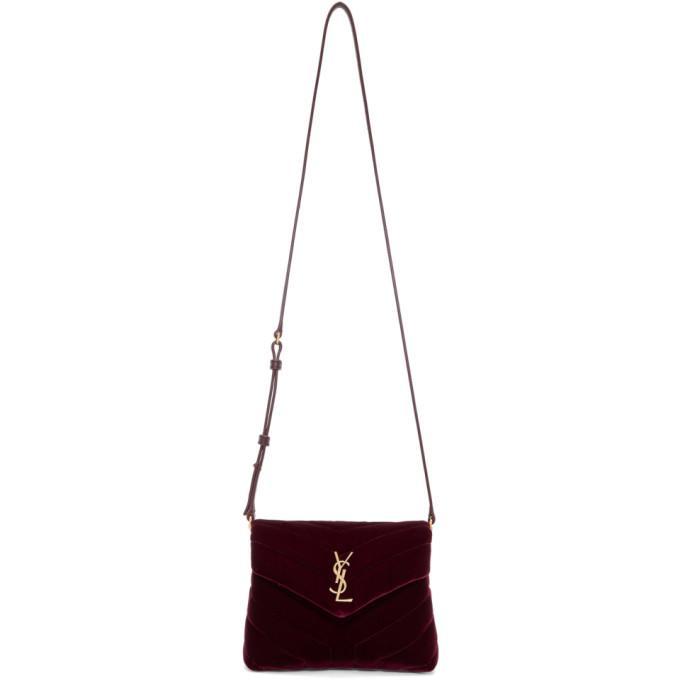 b7ef738378ba4 Saint Laurent Loulou Monogram Ysl Toy Quilted Velvet Shoulder Bag In ...
