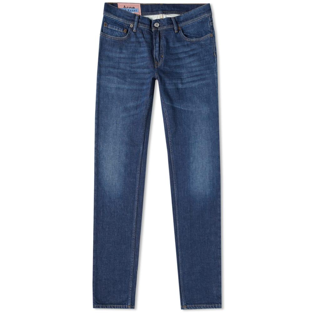 Acne Studios Skinny Cotton-blend Jeans In Dark Blue