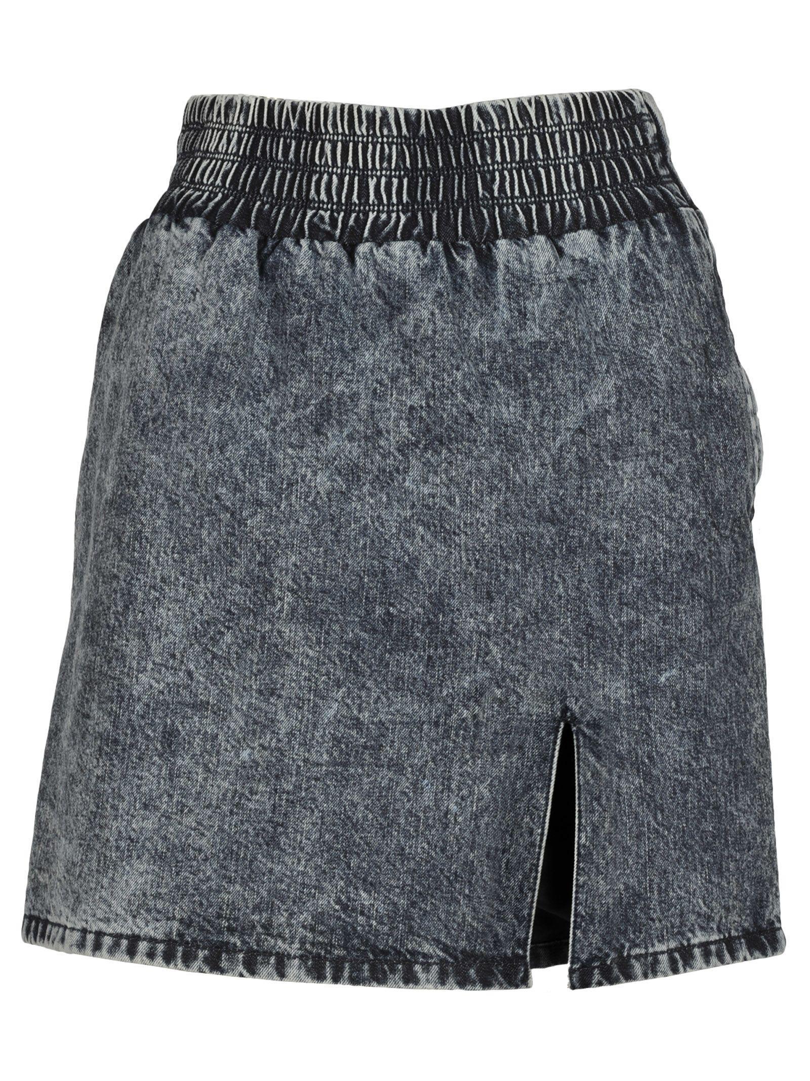d05d7eb8a Miu Miu Acid Wash Denim Mini Skirt In F0008 Blue | ModeSens