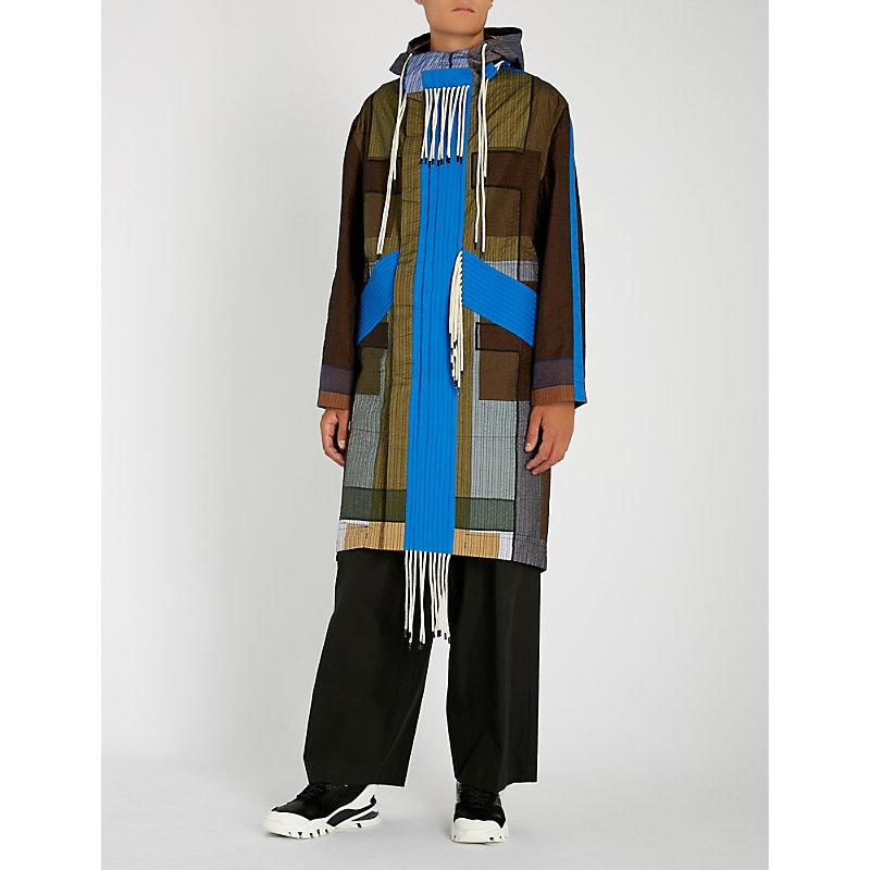 Craig Green Tent Multicolored Quilted Parka In Blue