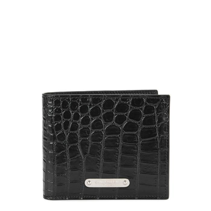 c7c9c694b8 Crocodile-effect leather wallet
