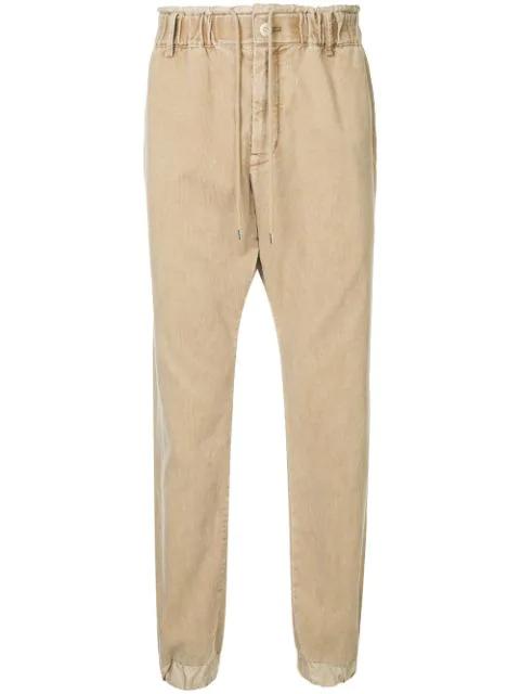 Sacai Straight-leg Corduroy Trousers - Brown
