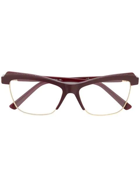 Cazal Cat-eye Shaped Glasses In Red