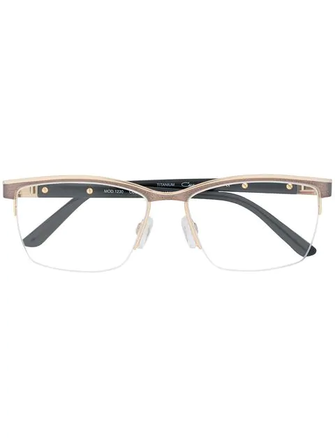 Cazal Rectangular Shaped Glasses In Black