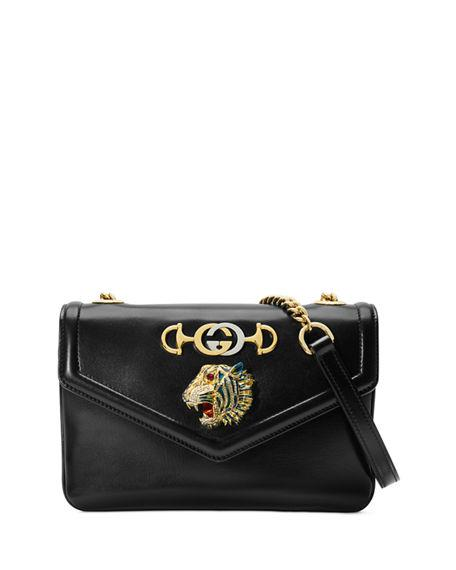 f1e9ab623 Gucci Medium Rajah Leather Shoulder Bag - Black | ModeSens