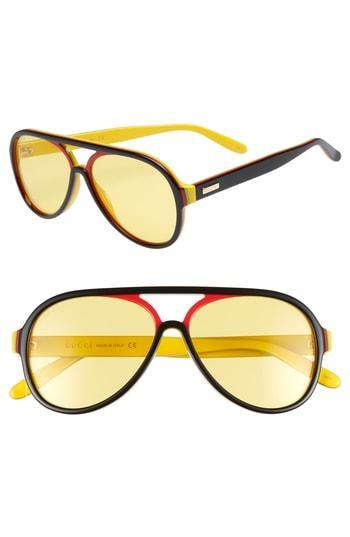 6886a37aa6 Gucci Men s Multicolor Shield Acetate Sunglasses In Black