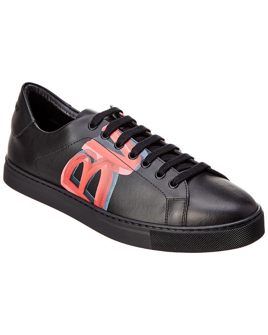 4704805a0ae9 Burberry Men s Albert Logo-Print Leather Sneakers