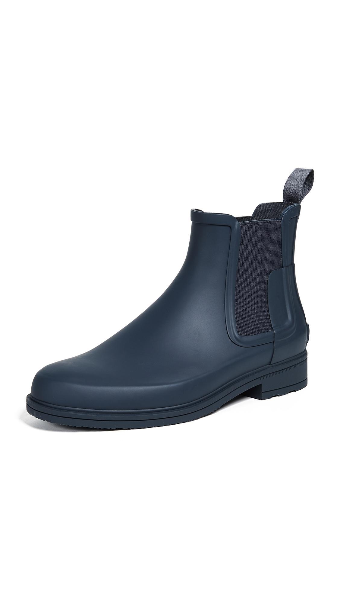 Hunter Men's Original Refined Chelsea Rain Boots In Black