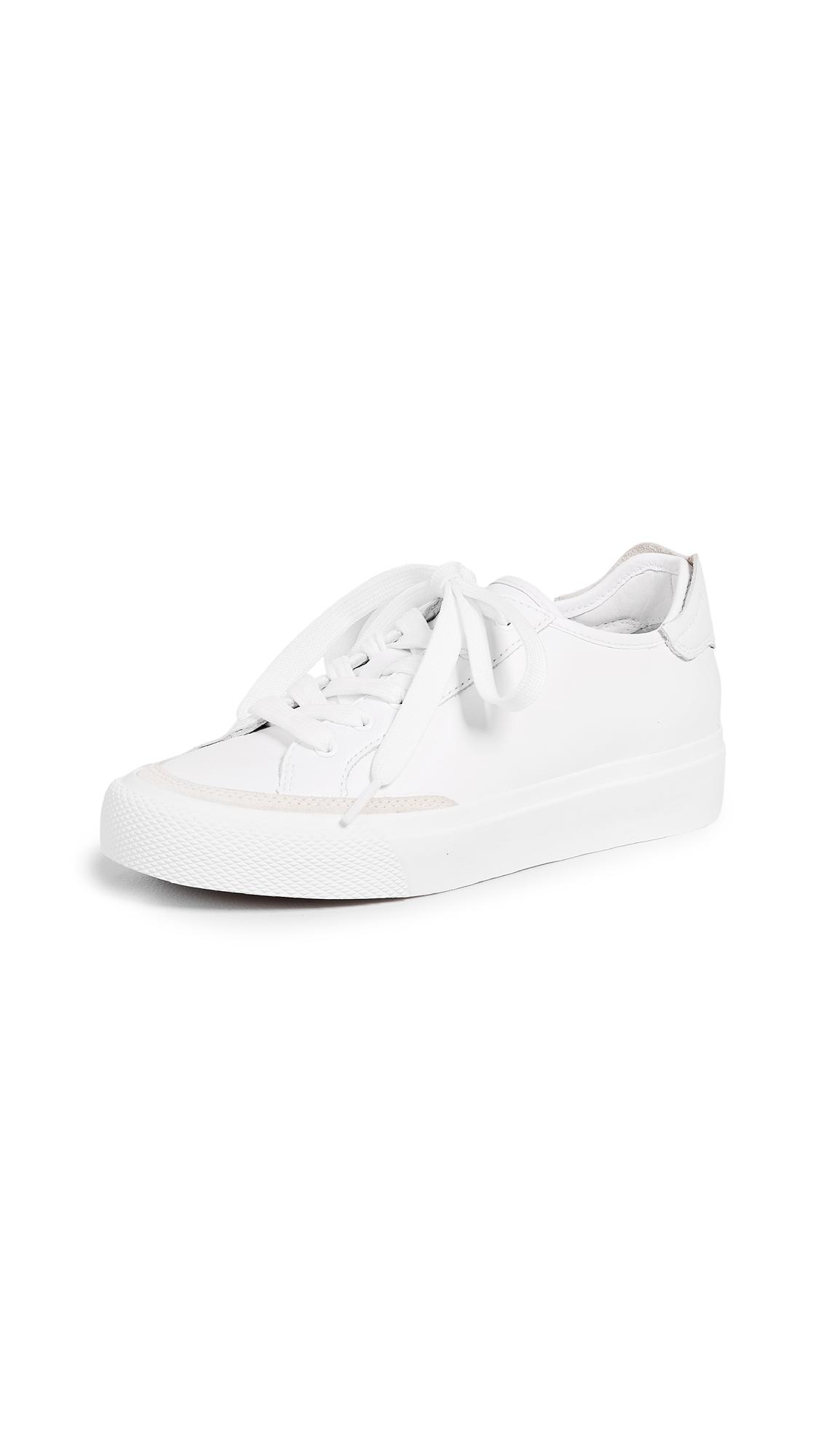 Rag & Bone Woman Standard Issue Perforated Leather Sneakers White In 150 White Leather