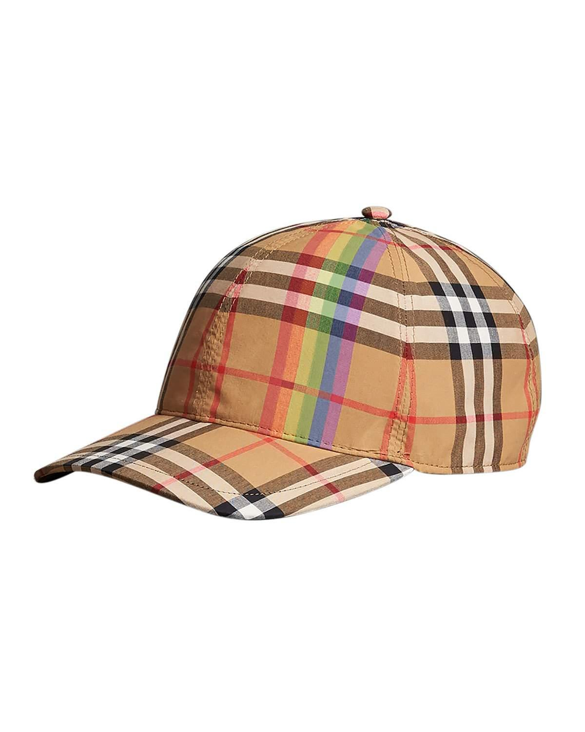 b51dc4c3d RAINBOW CHECK BASEBALL CAP