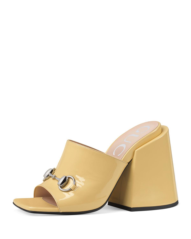 314210c776f Gucci Lexi Patent Leather Mules - Cream In Beige