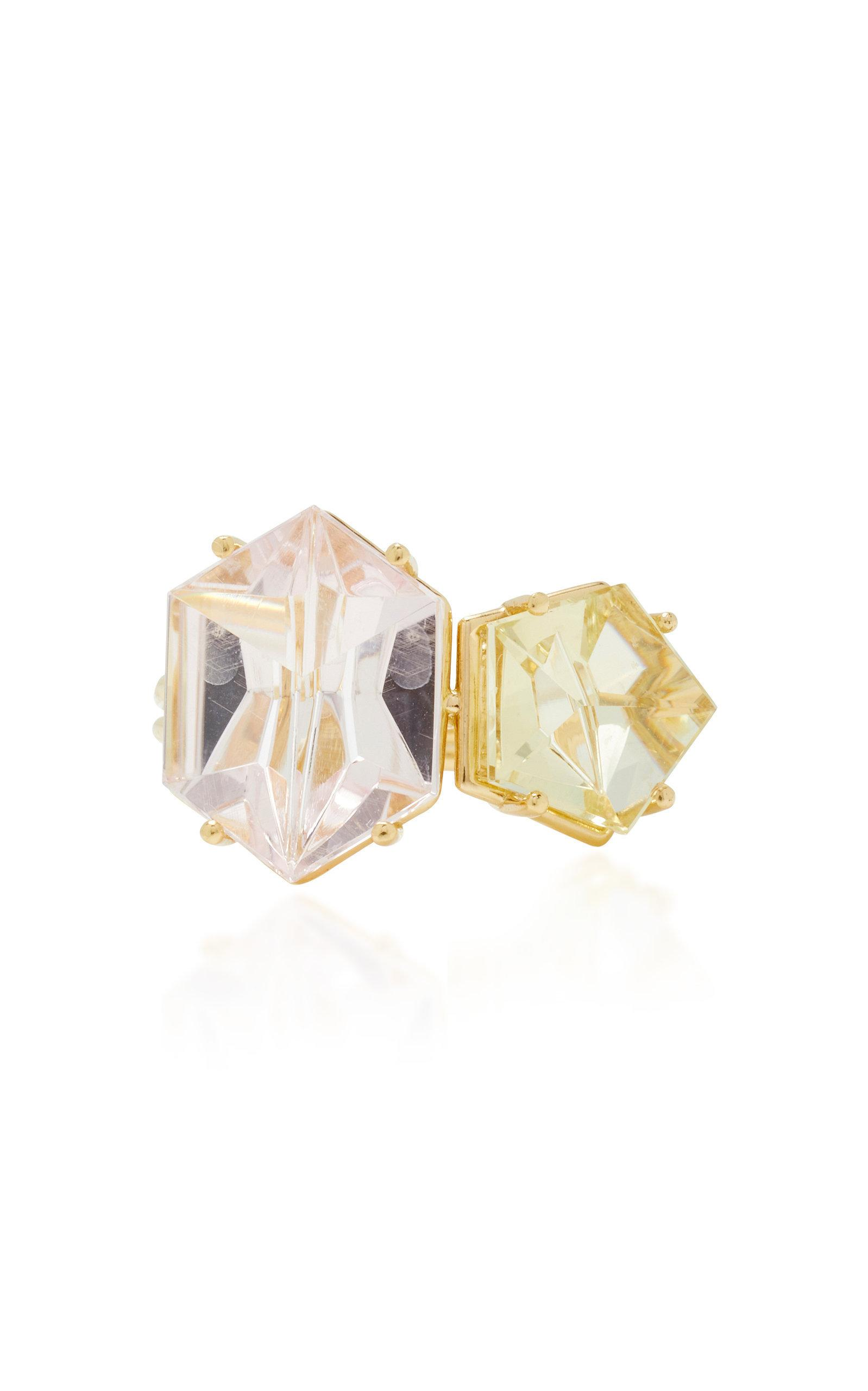 Misui 18k Gold Morganite And Beryl Ring In Pink