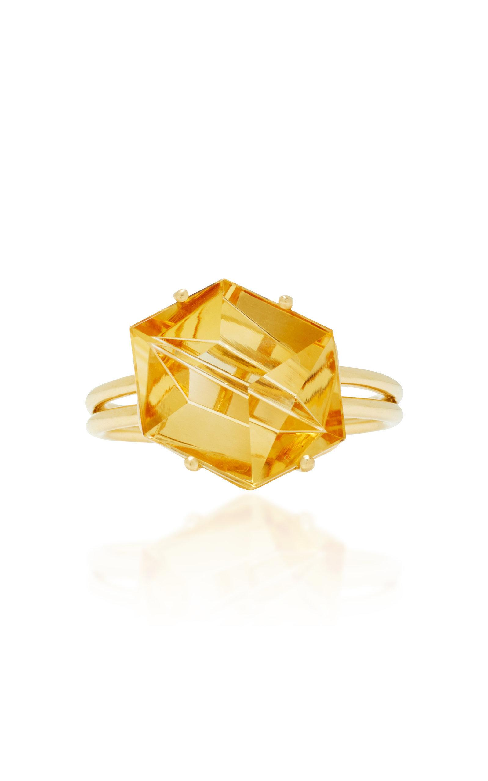 Misui 18k Gold Citrine Ring In Yellow