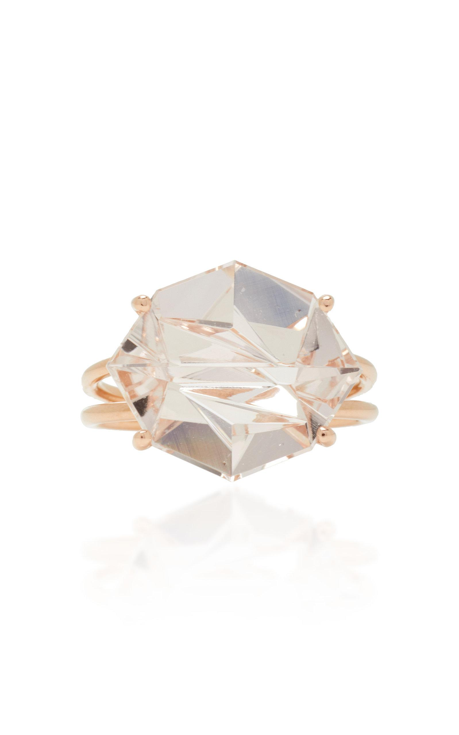 Misui 18k Rose Gold Morganite Ring In Pink