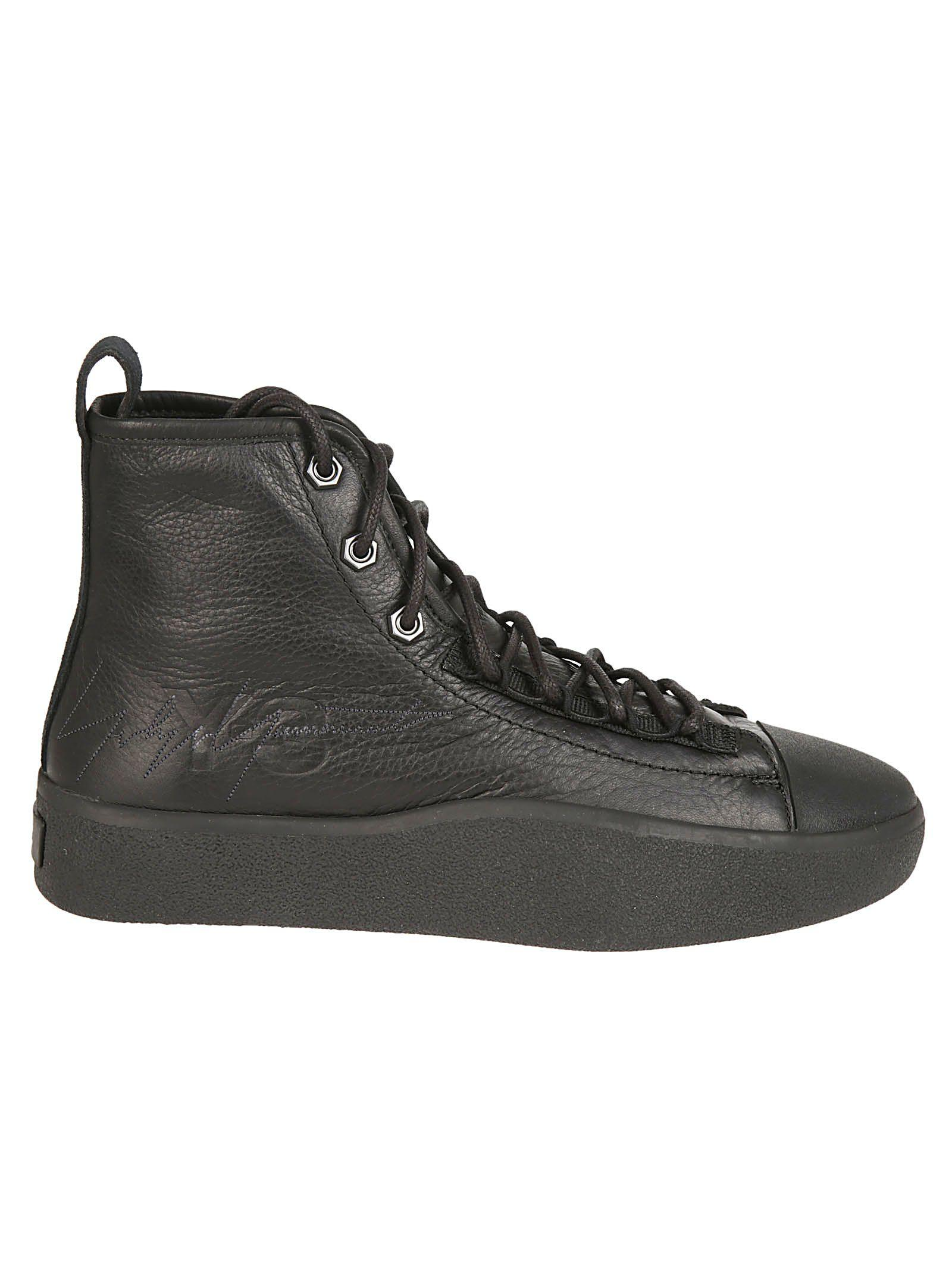 2ac8dbecbd92b Y-3 Men s Bashyo Leather High-Top Sneakers In Black