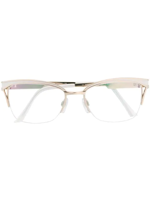 Cazal Cat-eye Shaped Glasses In White