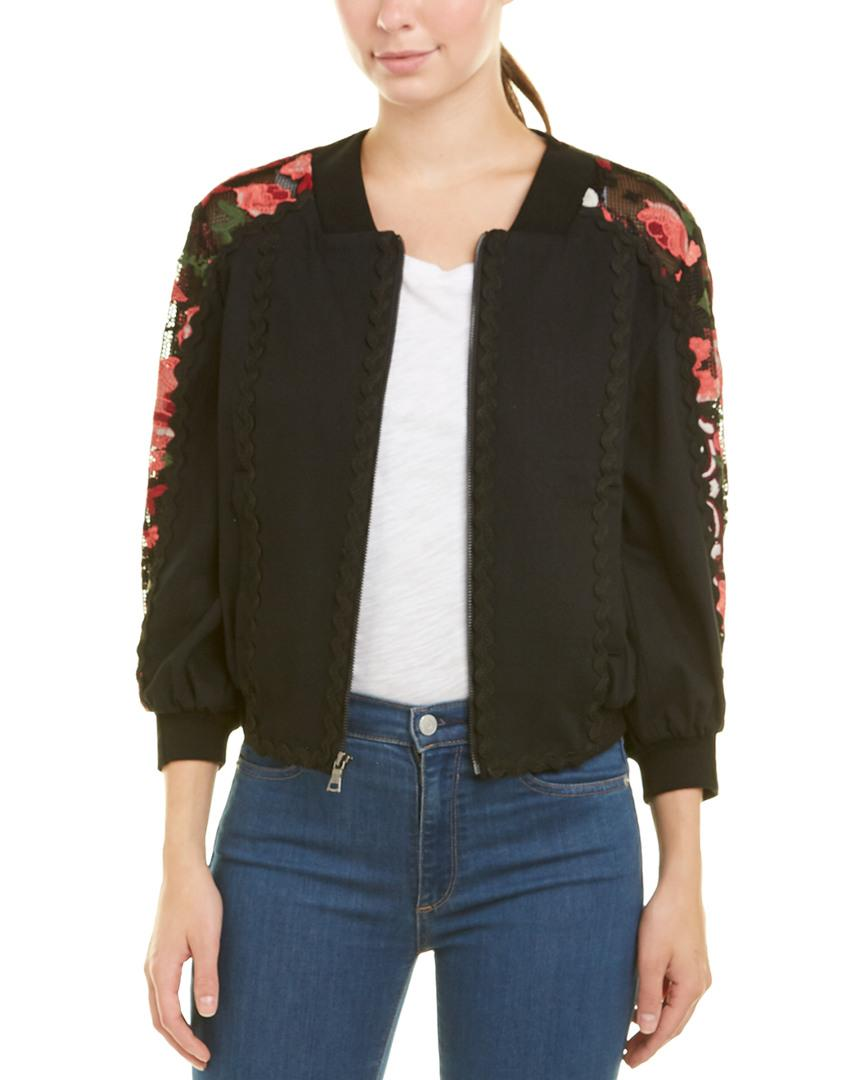 056949b6ce Bcbgmaxazria Embroidered Cropped Bomber Jacket In Black | ModeSens