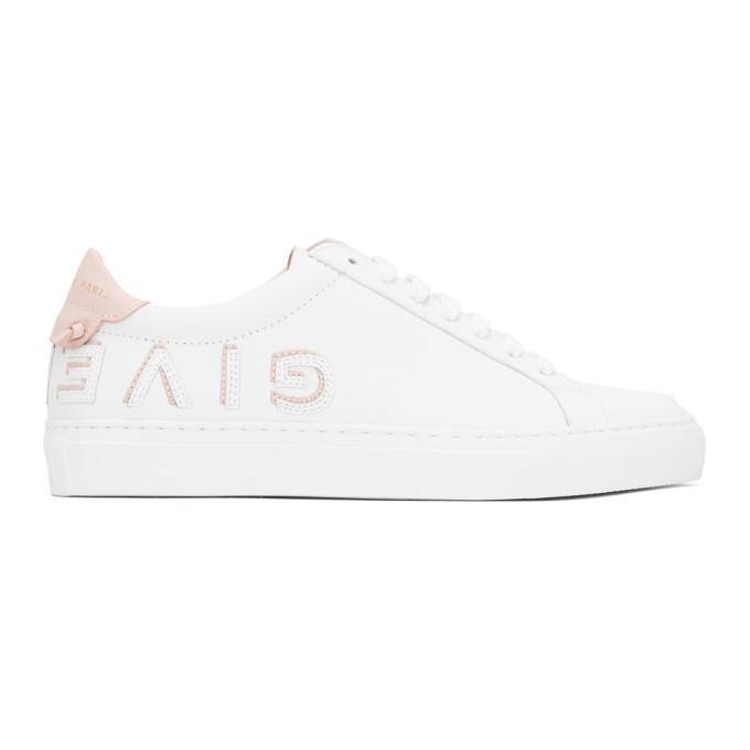 Givenchy Low-Top Sneakers Snaek B Urban Urban  Calfskin Logo Salmon White