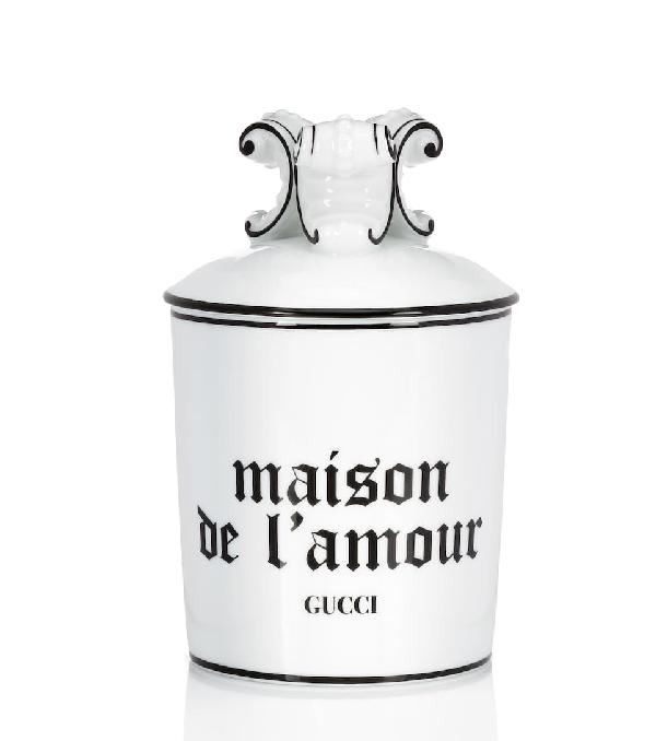 """Gucci Freesia  Xl """"maison De L'amour"""" Candle In White ,black"""