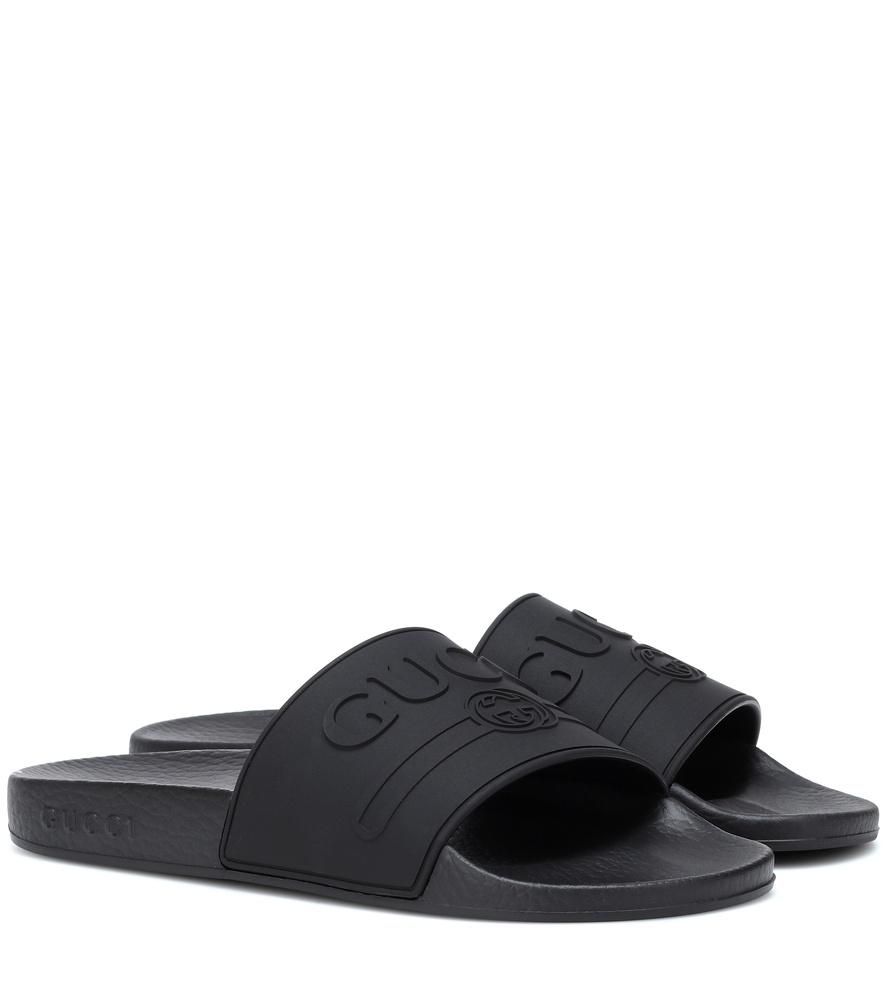 Gucci Women's 525140Jcz001031 Black Rubber Sandals