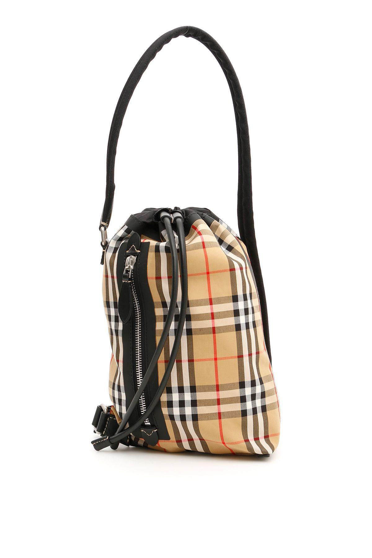 2d76531edfdd Burberry Small Vintage Check Sailing Duffle Sling Bag In Yellow ...