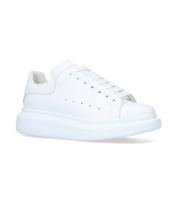 Alexander Mcqueen White And White Classic Sneakers
