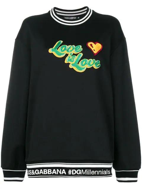 Dolce & Gabbana Jersey Sweatshirt In Black