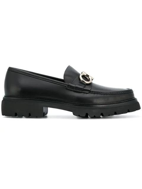 Salvatore Ferragamo Men's Bleecker Leather Moc Toe Loafers In Black